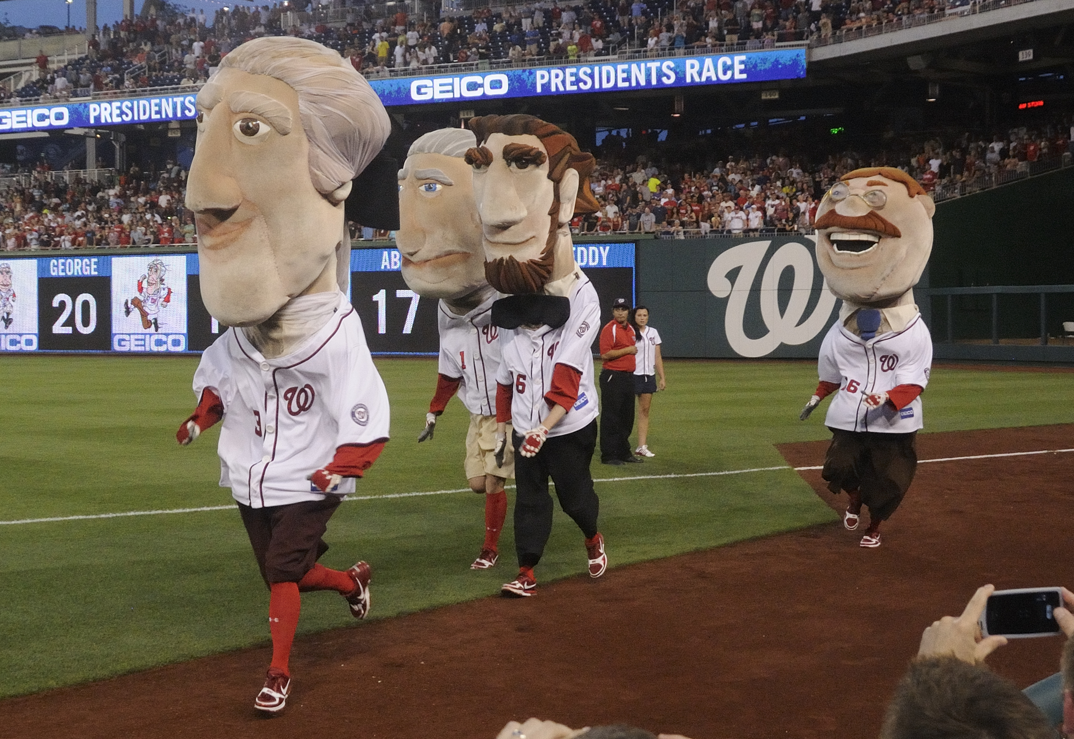Image result for nats racing presidents