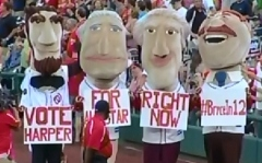 Washington Nationals Racing Presidents Vote for Bryce Harper