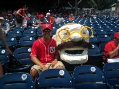 Teddy Roosevelt costume at Nationals Park - Photo by Wade Chi