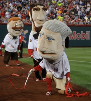 Nationals racing presidents Olympic rhythmic gymnastics George Washington poses