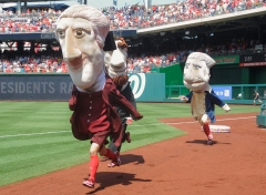 Nationals racing presidents Thomas Jefferson