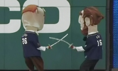 Racing presidents Olympic fencing with swords Teddy v Abe Lincoln