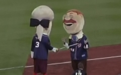 Racing presidents Olympic fencing with swords Teddy v Tom