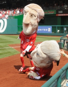Nationals presidents race - Thomas Jefferson decks George Washington