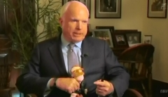 John McCain with Teddy Roosevelt Doll