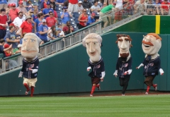 Nationals Presidents Race George Washington Wins Teddy Loses
