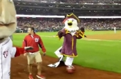 Nationals Mascot Screech as a Pirate