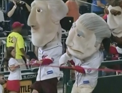 Washington Nationals Presidents Race Photo Finish