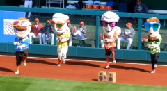 Presidents Race Gangnam Style Washington Nationals
