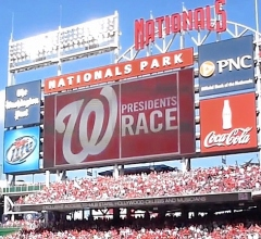 Presidents Race Nationals Park Scoreboard