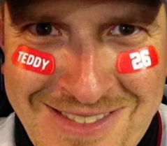 Teddy Roosevelt 26 Eye Black Teddyin2012