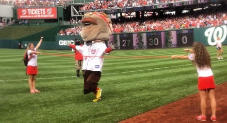 Teddy Roosevelt wins the presidents race