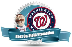 Nationals racing presidents win best on field promotion from GameOps.com
