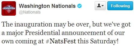 Nationals NatsFest Announcement Racing Presidents