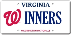 Washington Nationals Vanity License Plate Virginia