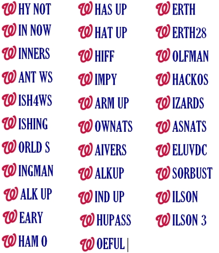Washington Nationals Vanity License Plates