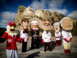 Nationals Racing Presidents at Mt. Rushmore