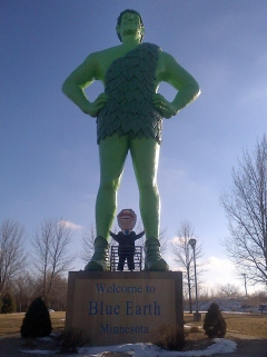 Teddy Roosevelt and the Jolly Green Giant