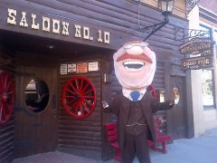 Teddy Roosevelt in Deadwood South Dakota