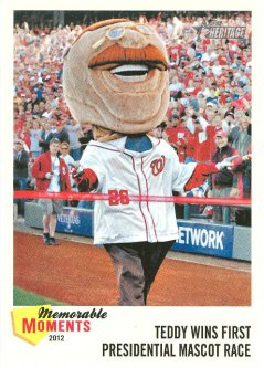 Teddy Roosevelt Topps Baseball Card - Commemorative - Winning presidents race