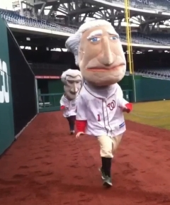 George Washington President Race Auditions Nationals Park