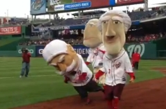 George Washington Thomas Jefferson collude Nationals Presidents Race