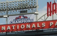 Championship banner at Nationals Park