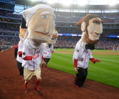Washington Nationals presidents race backwards