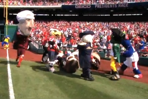 Mascots visit Nationals Park presidents race Visiting Mascots