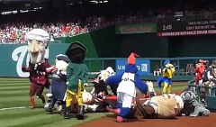 Nationals presidents race visiting mascots tackle