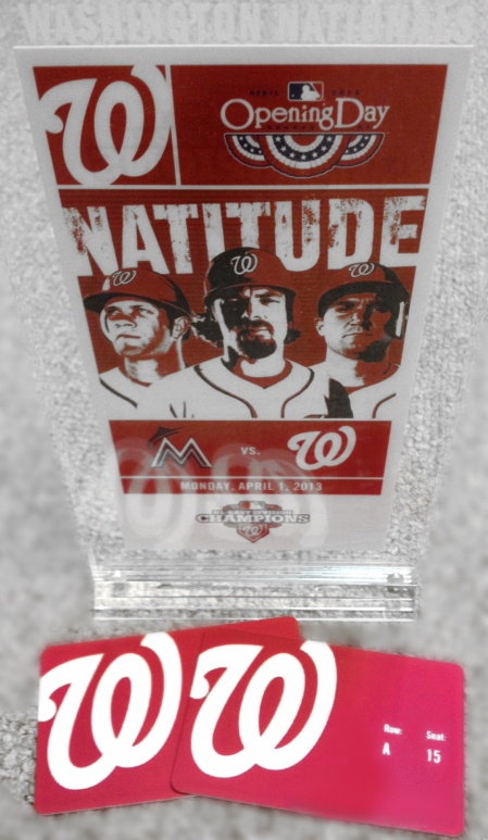 Nationals Opening Day Souvenir Ticket and Ultimate Access Cards