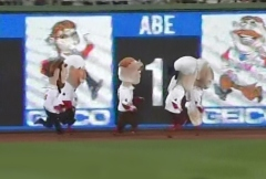 Washington Nationals Racing Presidents Abe Cheats