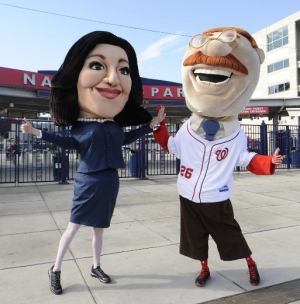 Teddy Roosevelt Selina Meyer VEEP Washington Nationals Presidents Race