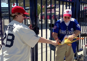 Washington Nationals Rubber Chicken Sacrifice Burn Sage