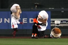 Baltimore Orioles Bird Tackles Nationals Racing Presidents William Howard Taft