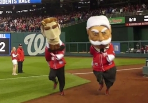 Nationals Presidents Race Abe Lincoln beats William Howard Taft