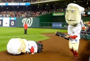 Nationals Racing President George Washington hits William Howard Taft