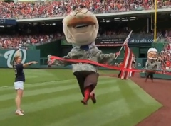 Teddy Roosevelt wins presidents race military memorial day