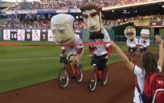 Capital bikeshare Washington Nationals presidents race photo finish