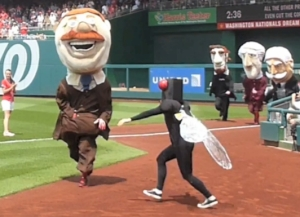 Cicada attacks Teddy Roosevelt Washington Nationals Park Presidents Race