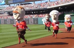 Teddy Roosevelt wins Washington Nationals Presidents Race Nationals Park
