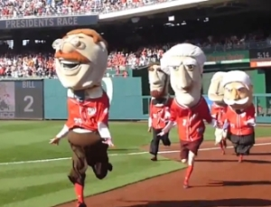 Teddy Roosevelt wins Washington Nationals Presidents Race