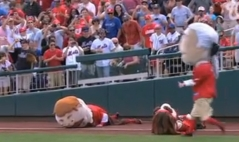 Abe Lincoln leaps from the stands to tackle Teddy Roosevelt 4