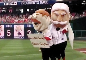 Taft tackles Teddy at Nats tweetup