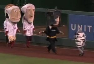 Racing presidents batman vs Sharknado