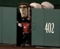 Abe Lincoln blocks the starting gate