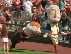 Best Washington Nationals presidents race of 2013 Teddy wins photo finish