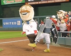 Washington Nationals presidents race rally pidgeon trips Teddy Roosevelt