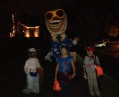 Teddy Roosevelt Goes Trick or Treating