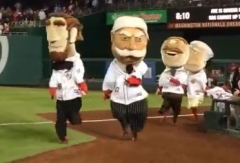 Abe Lincoln wins Nationals presidents race